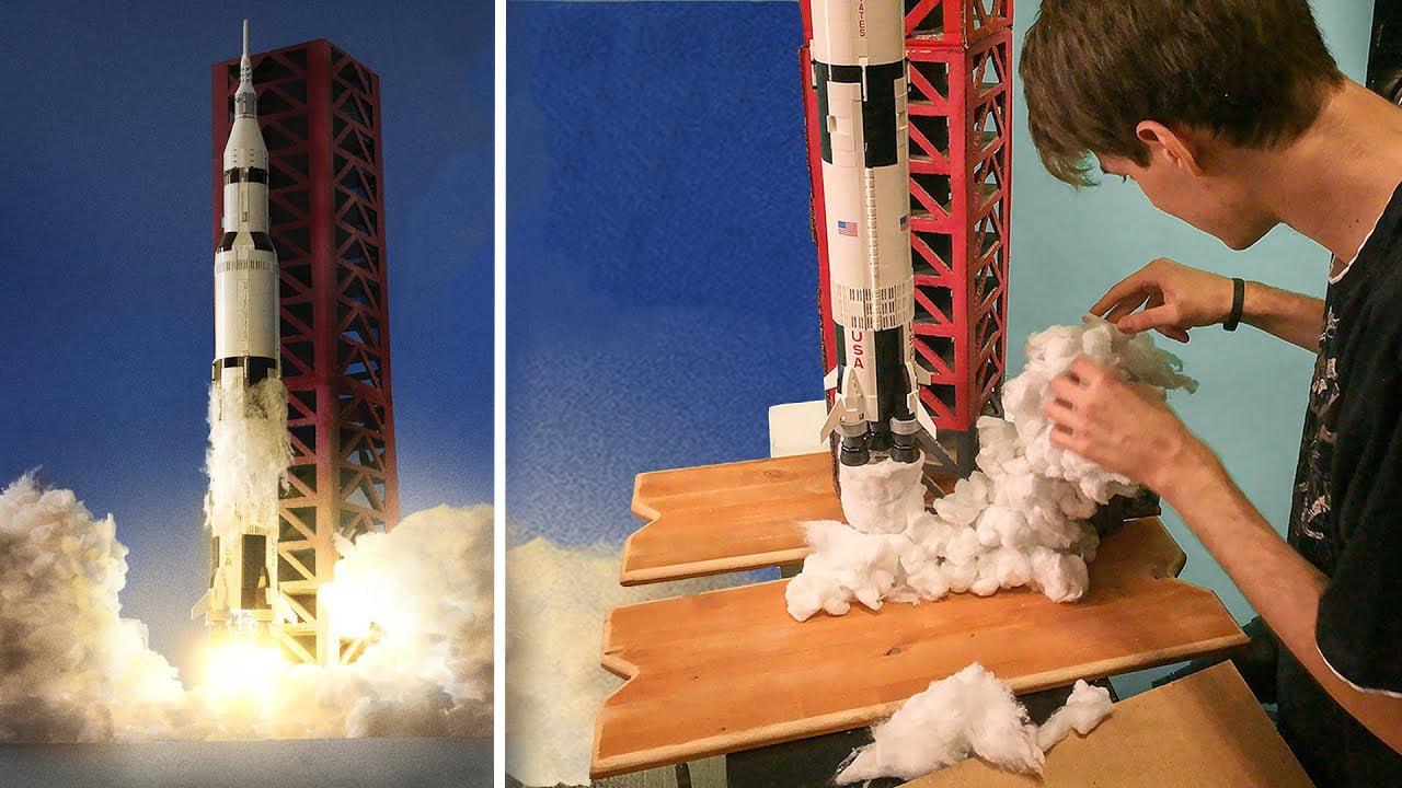 Photographer Recreates Apollo Launch and Moon Landing Photos with LEGOs