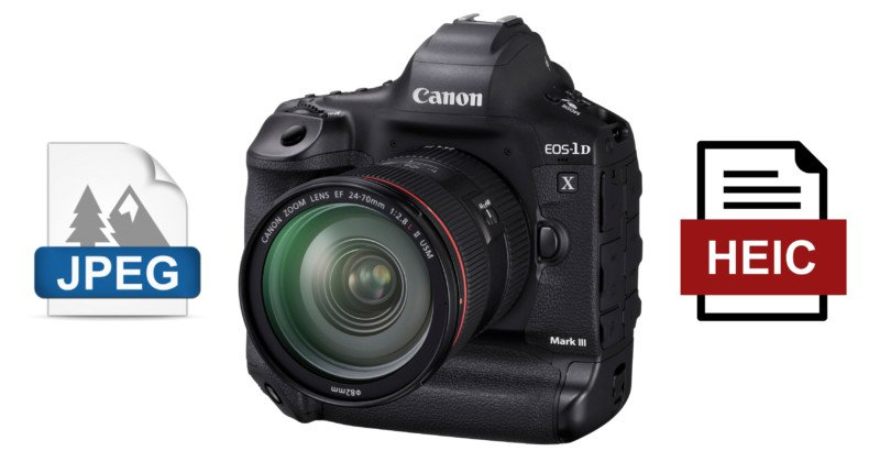 Canon Has 'Moved On to HEIF,' But Won't Ditch JPEG Completely… Yet
