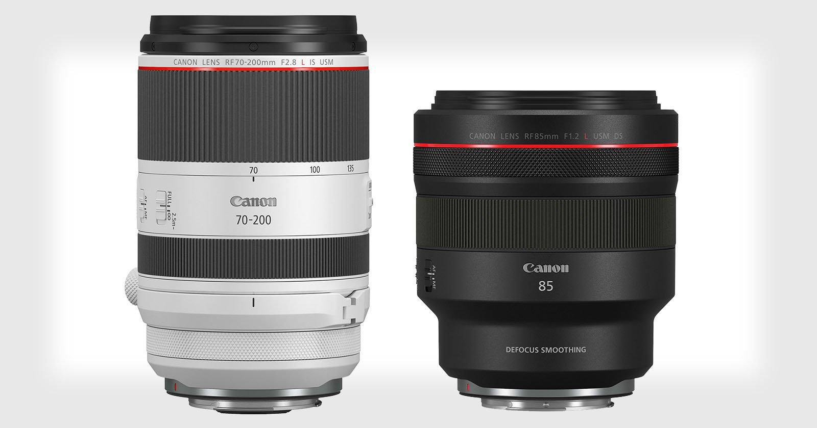 Canon Unveils RF 70-200mm f/2.8L IS and 85mm f/1.2L DS IS Lenses