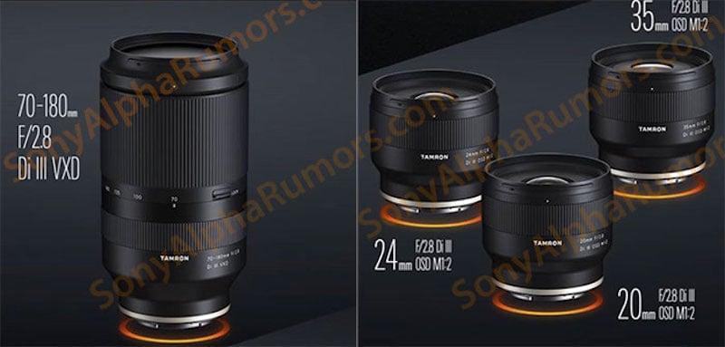 Photos of Four New Tamron Lenses for Sony E-Mount Leaked