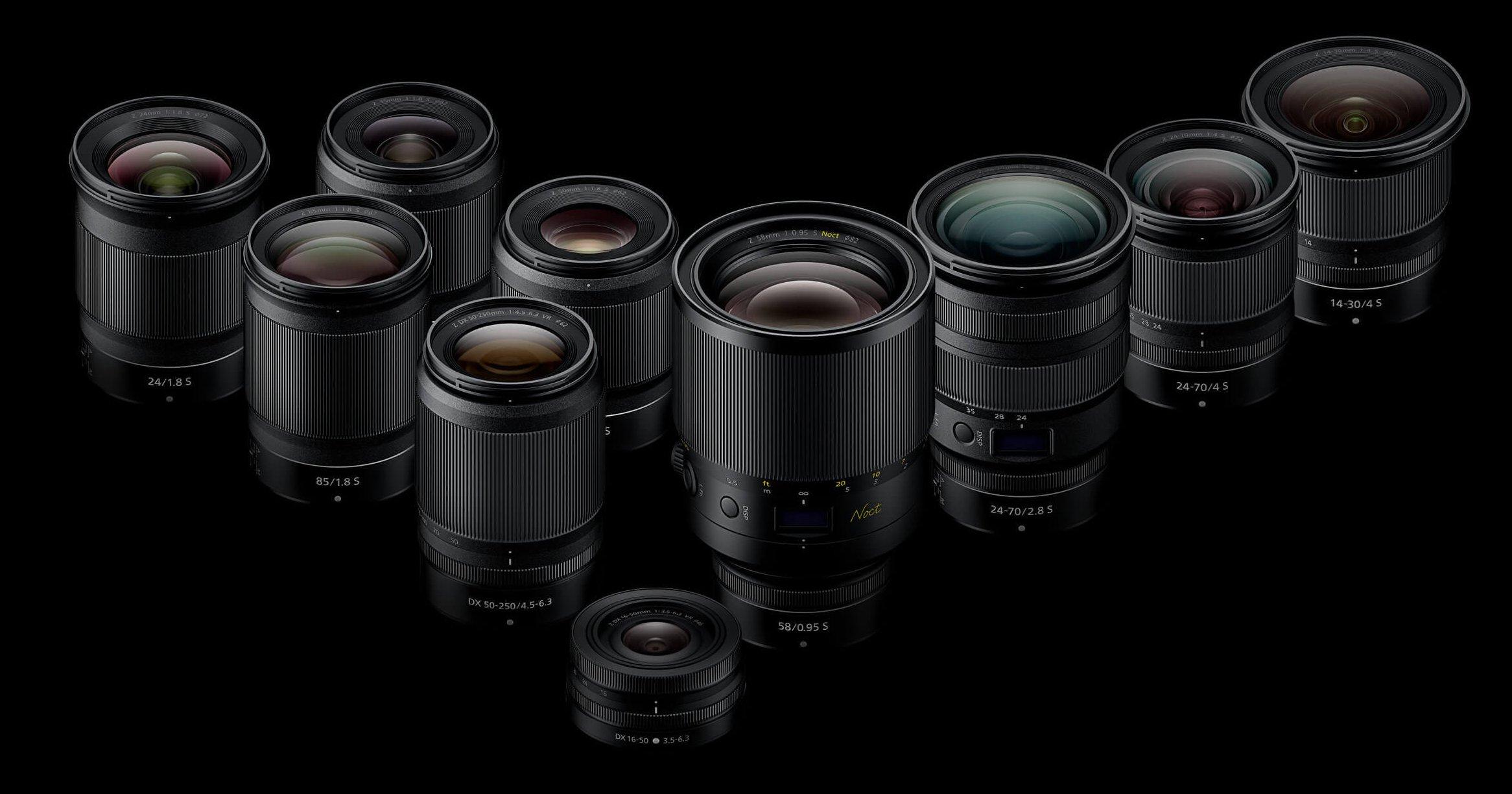 Nikon Reveals Updated Z-Mount Lens Roadmap with Nine New Lenses