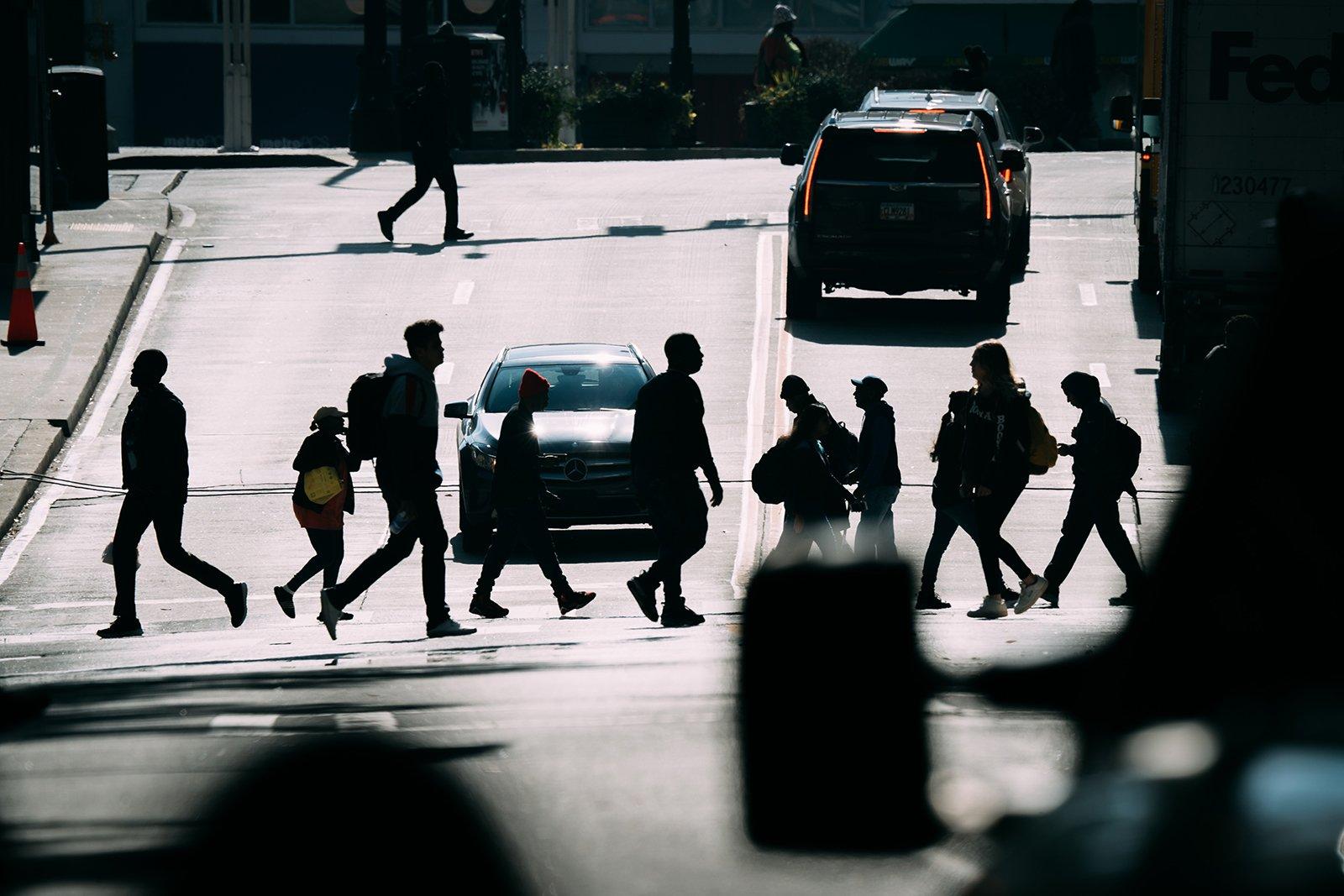usando lente de 200-600 en fotografía urbana