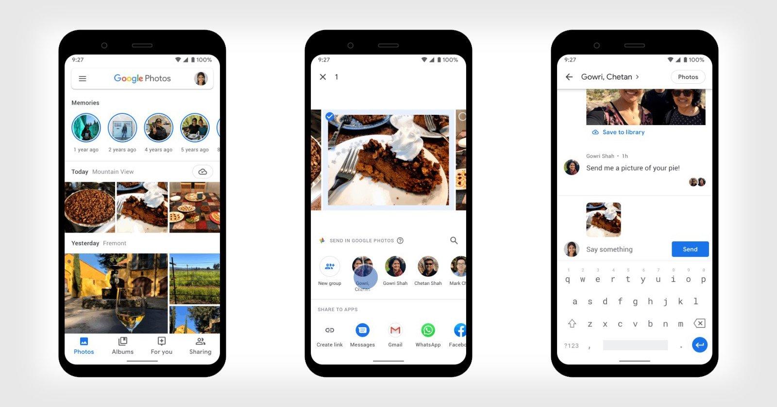 تضيف جوجل رسائل مباشرة إلى صور Google لتسهيل المشاركة