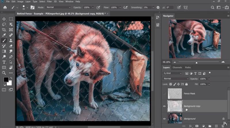 Aprende-quitar-enrejado-metálico-con-Photoshop-Content-Aware-Fill