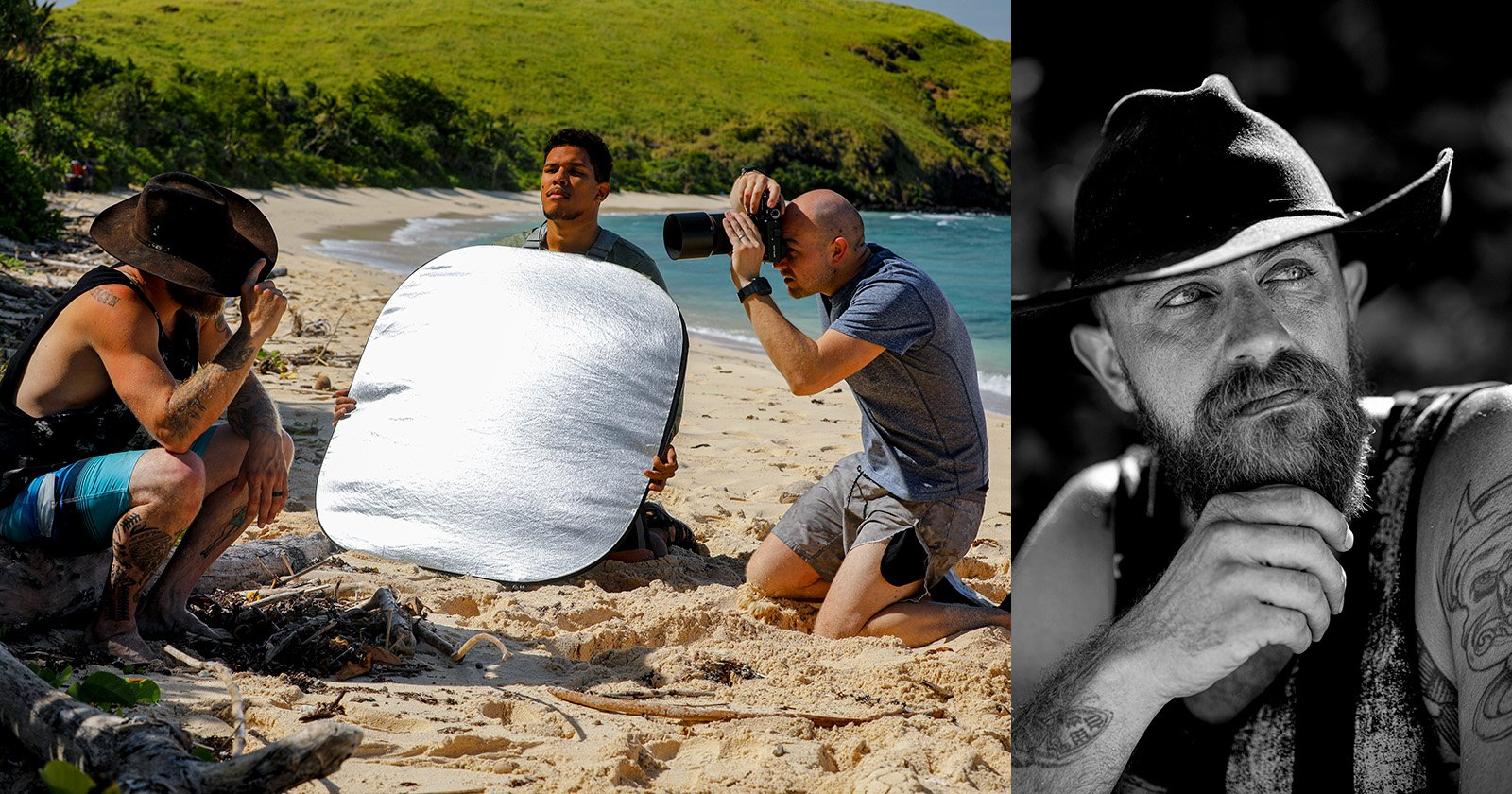 Photographing the Contestants of Survivor 40 on a Deserted Island in Fiji