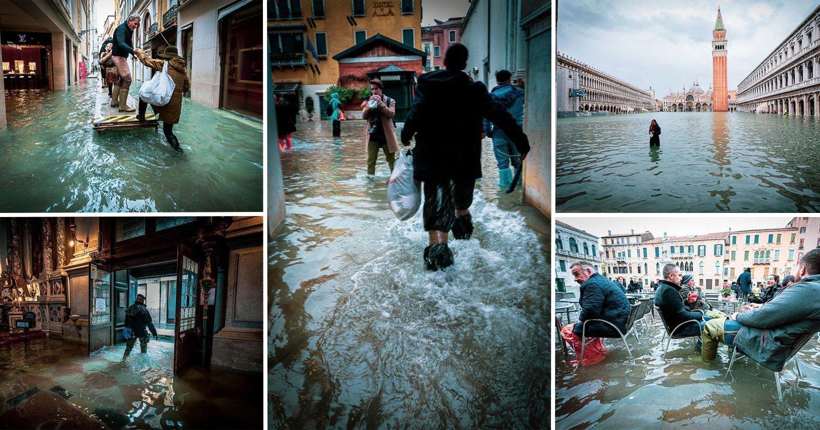 Photographer Captures Eerie Images of Venice Underwater