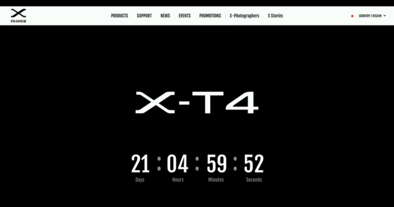 Fujifilm Will Reveal the X-T4 on February 26th