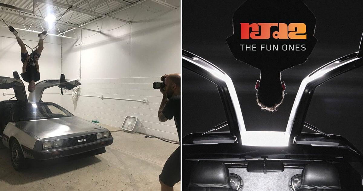Shooting a Creative Album Cover Photo with a Delorean