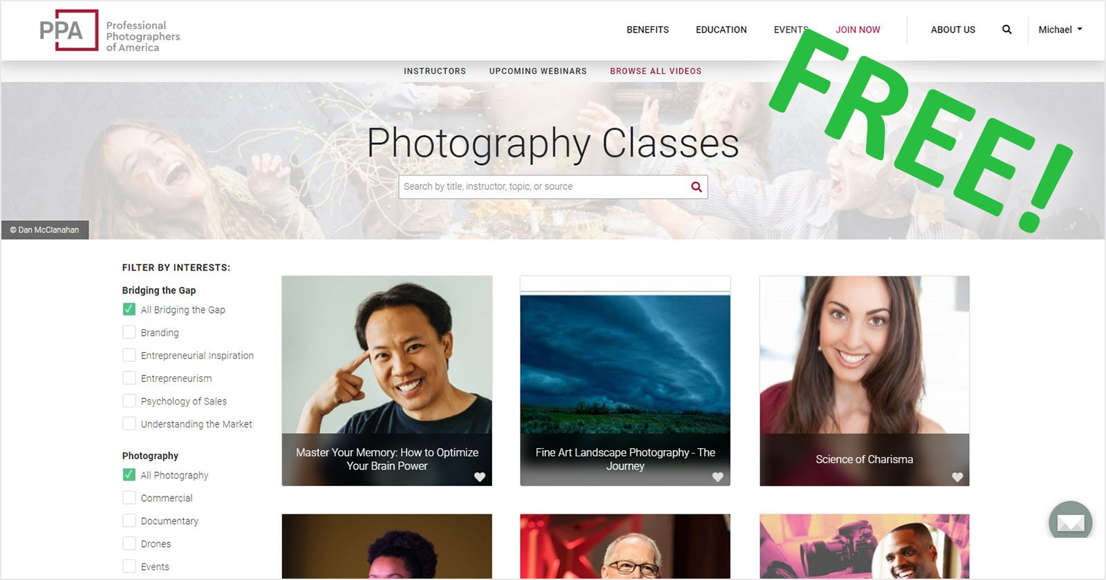 PPA's 1,100+ Online Photo Classes Are Currently Free