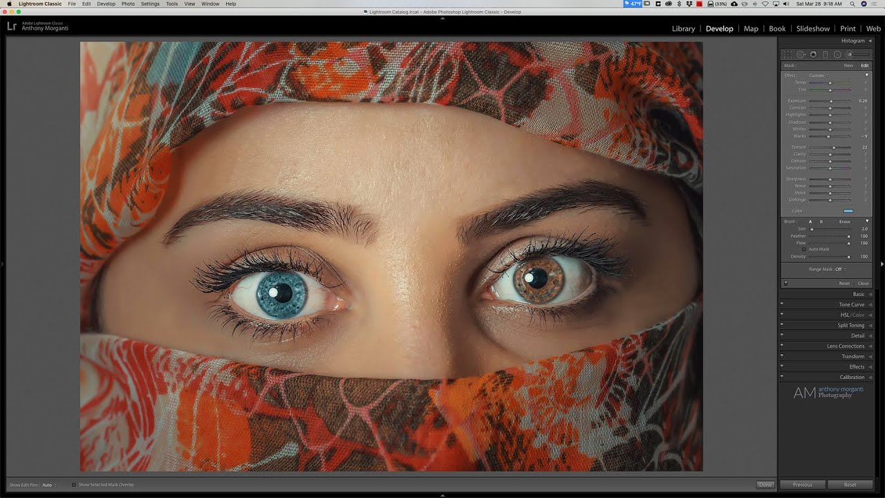 How to Change Someone's Eye Color in Adobe Lightroom