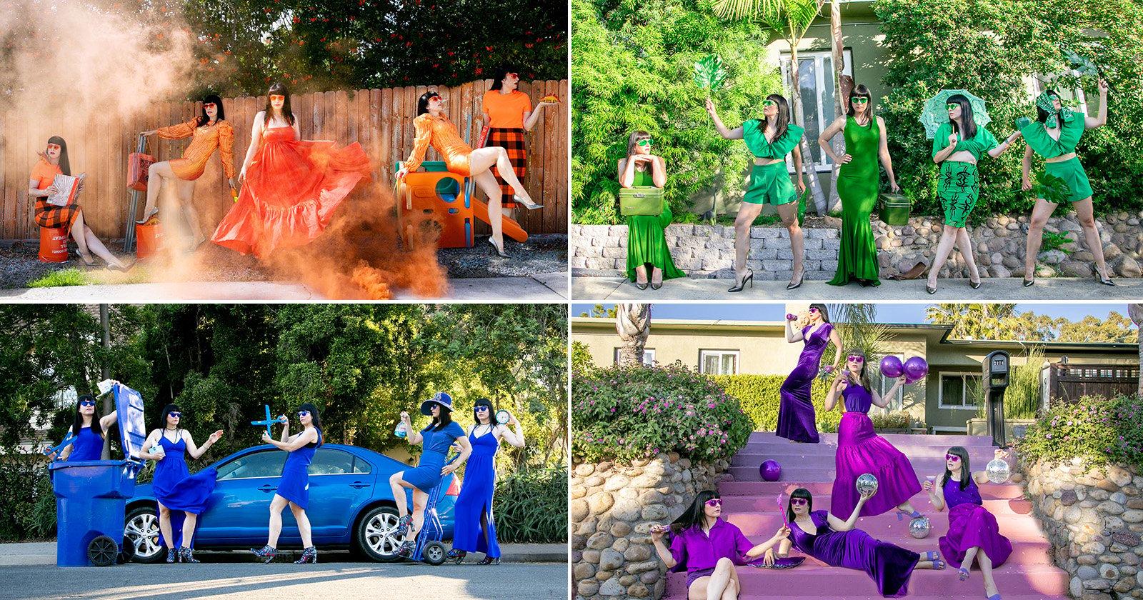 Photographer and Fashion Blogger Capture Colorful Quarantine Portraits