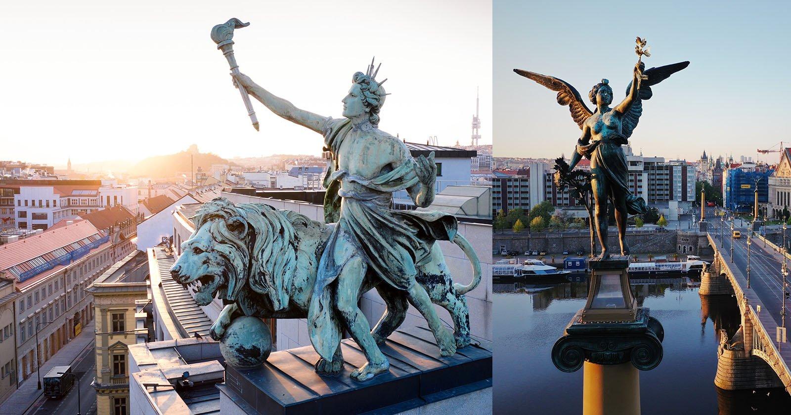Photos of Prague's Rooftop Creatures