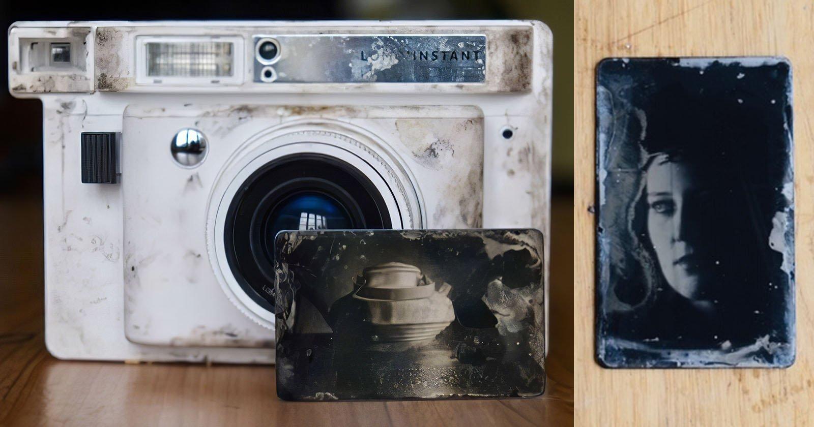 Photographer Converts Instax Camera to Shoot Tiny Wet Plate Photos