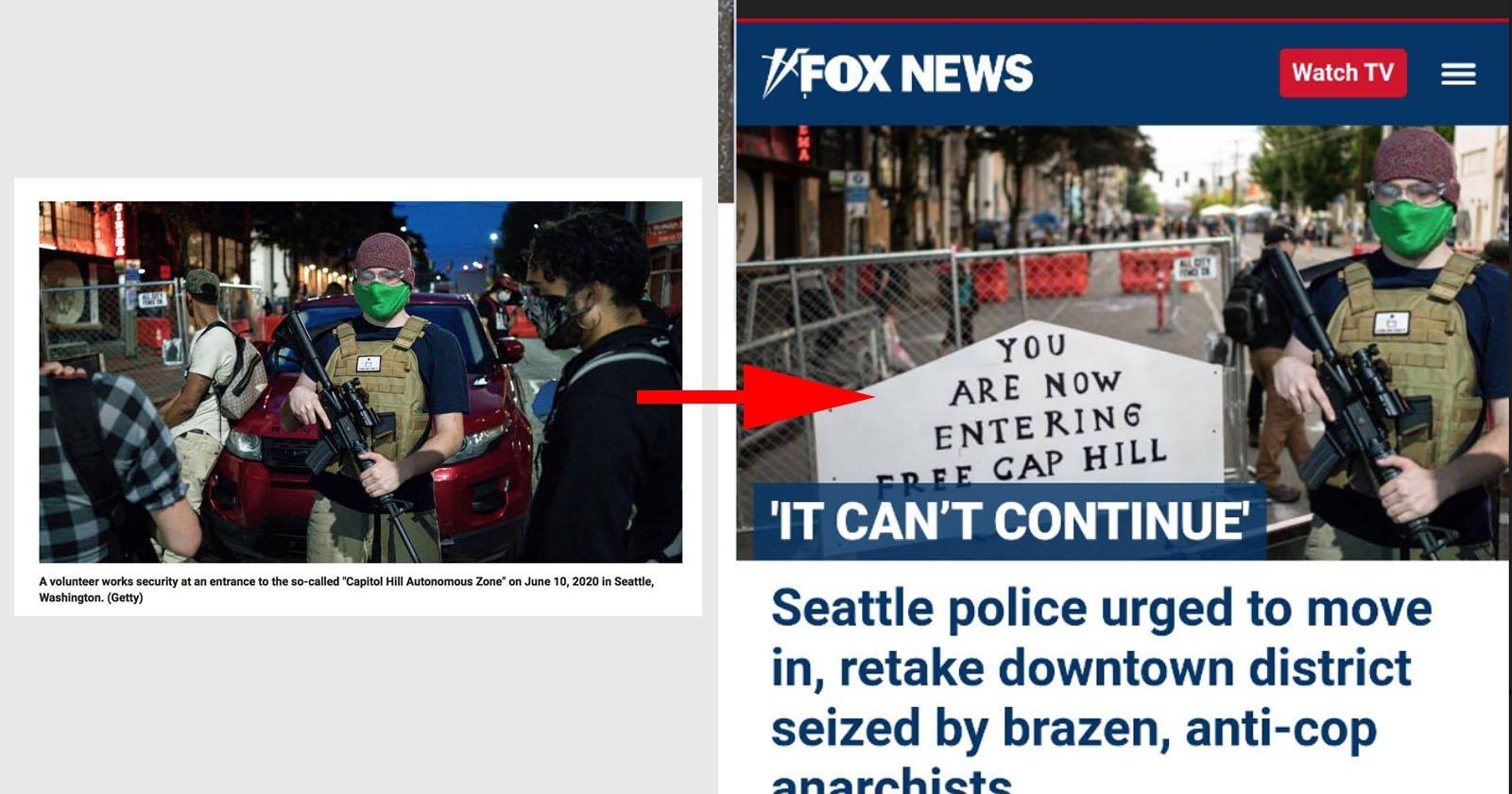 Fox News Ran Photoshopped Photos of Seattle Protests