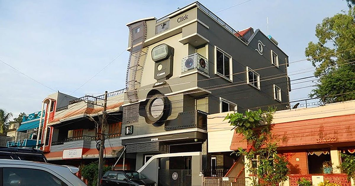 The Camera-Obsessed Man Who Lives in a Camera-Shaped House