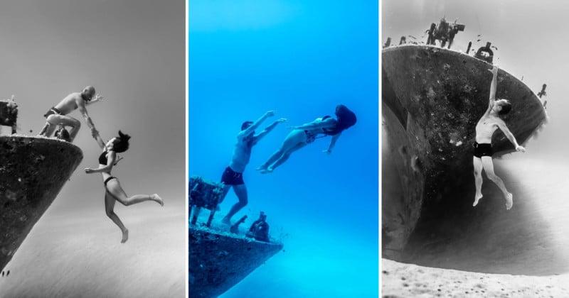 Capturing 'Underwater Playground' Photos with Professional Freedivers