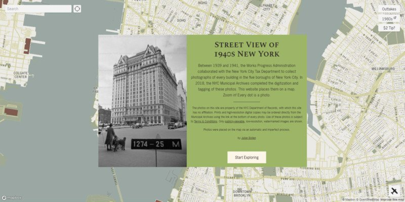 This Interactive Map is a Street View of 1940s New York City 2