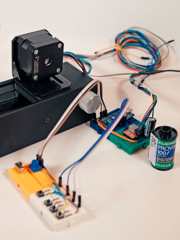 How to Make an Auto 35mm Film Scanner with Arduino Nano and Python