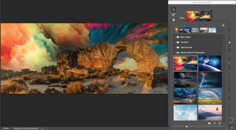 Photoshop Sky Replacement Colors