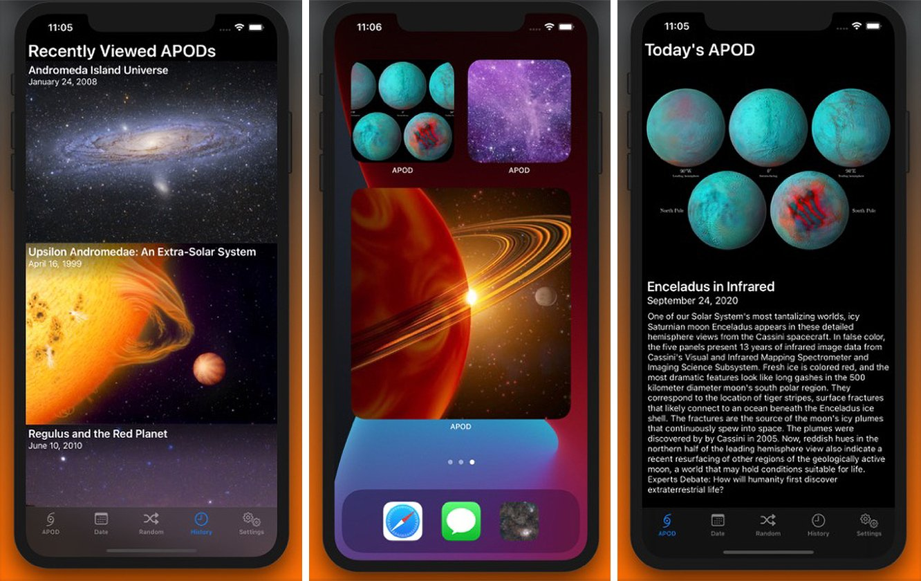 This iOS Widget Puts NASA's Astronomy Picture of the Day on Your Home Screen