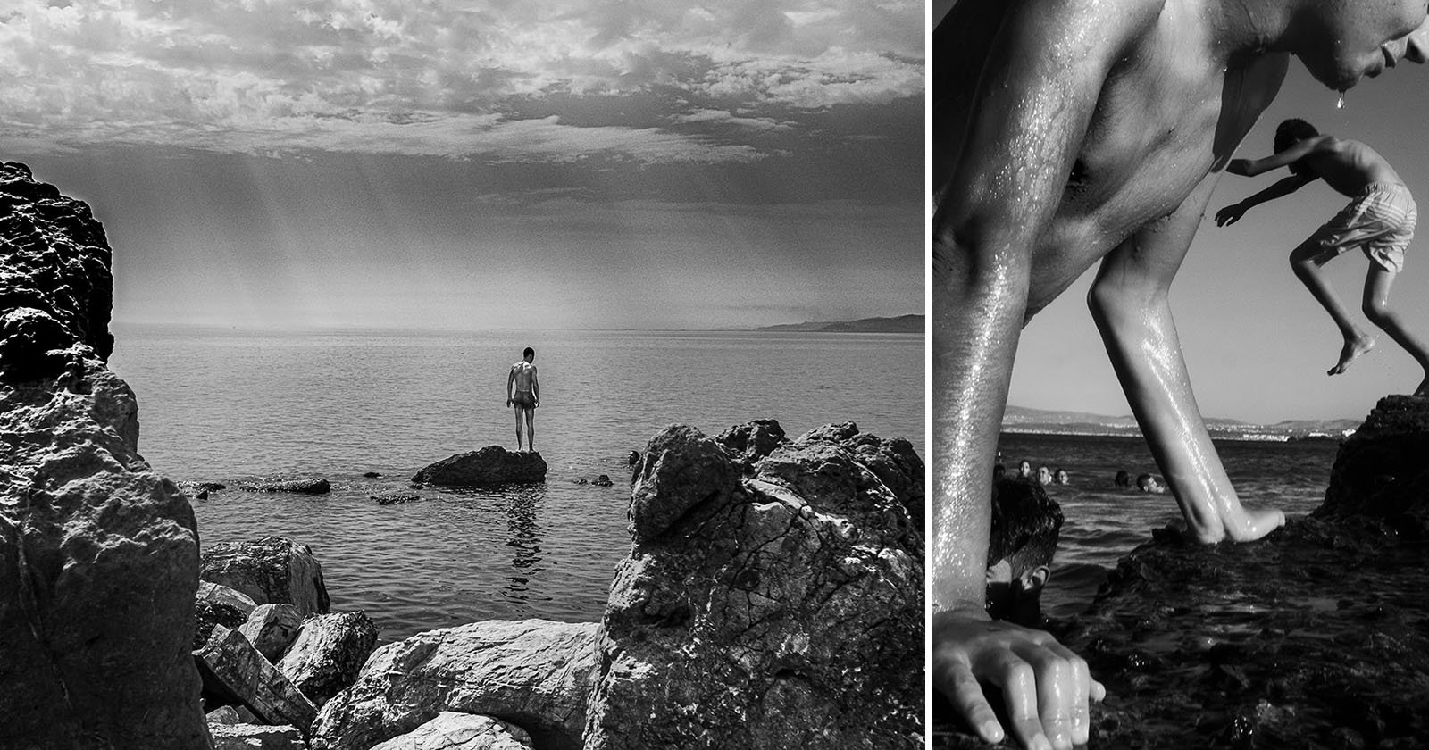 Gorgeous B&W Photos of Tunisian Kids Growing Up with the Sea