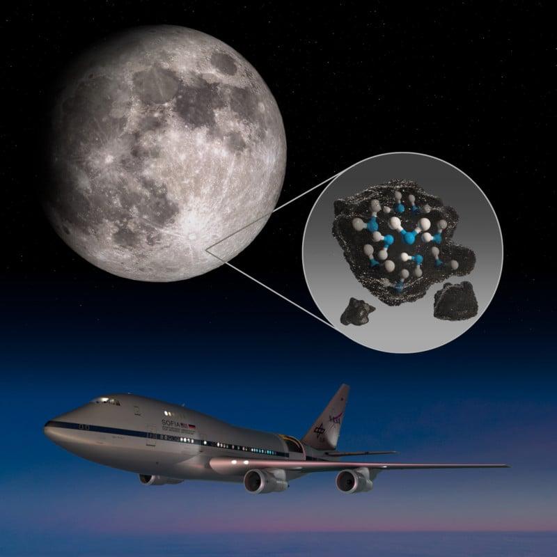 NASA telescope spots molecular water on the sunlit Moon surface