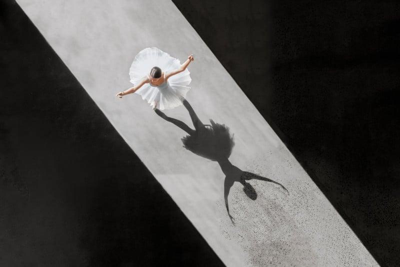 Impresionantes fotos con drones capturan la belleza del ballet