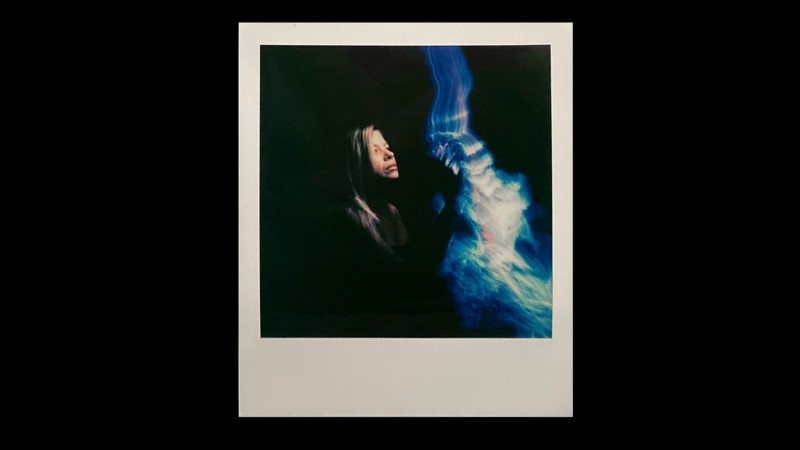 Stunning Light Painted Polaroid Portraits Mix the Old with the New