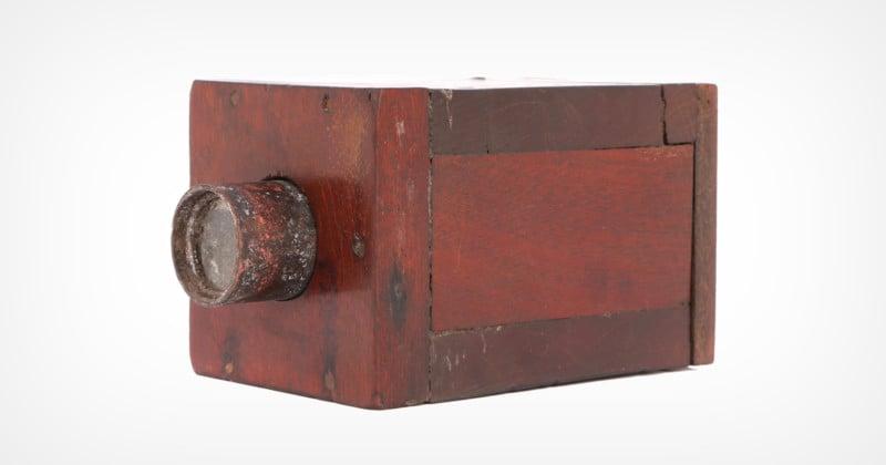 Camera Made of Wood, Brass,