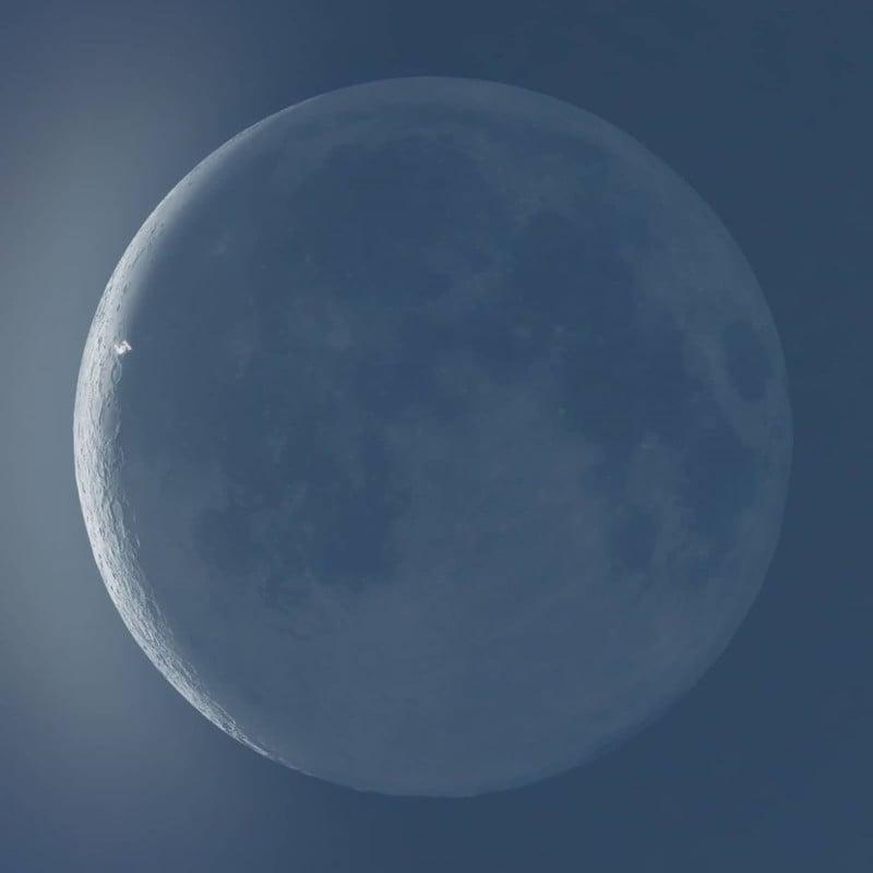 Fotógrafo capta la ISS cruzando el sol y la luna