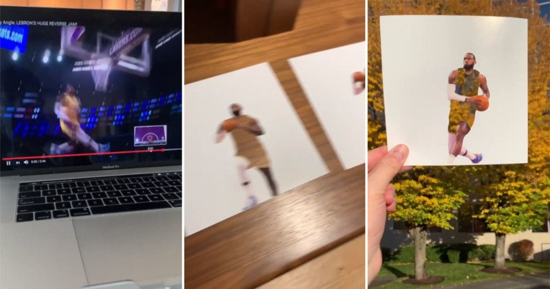 Every Frame of This LeBron Dunk Stop Motion Was Printed, Cut, and Shot