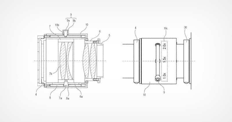 Canon Patents Unusual 1.0x-2.0x Variable/Zoomable Teleconverter