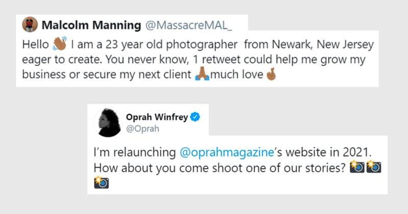 Oprah Spots Struggling Photographer S Tweet Offers Him A Job