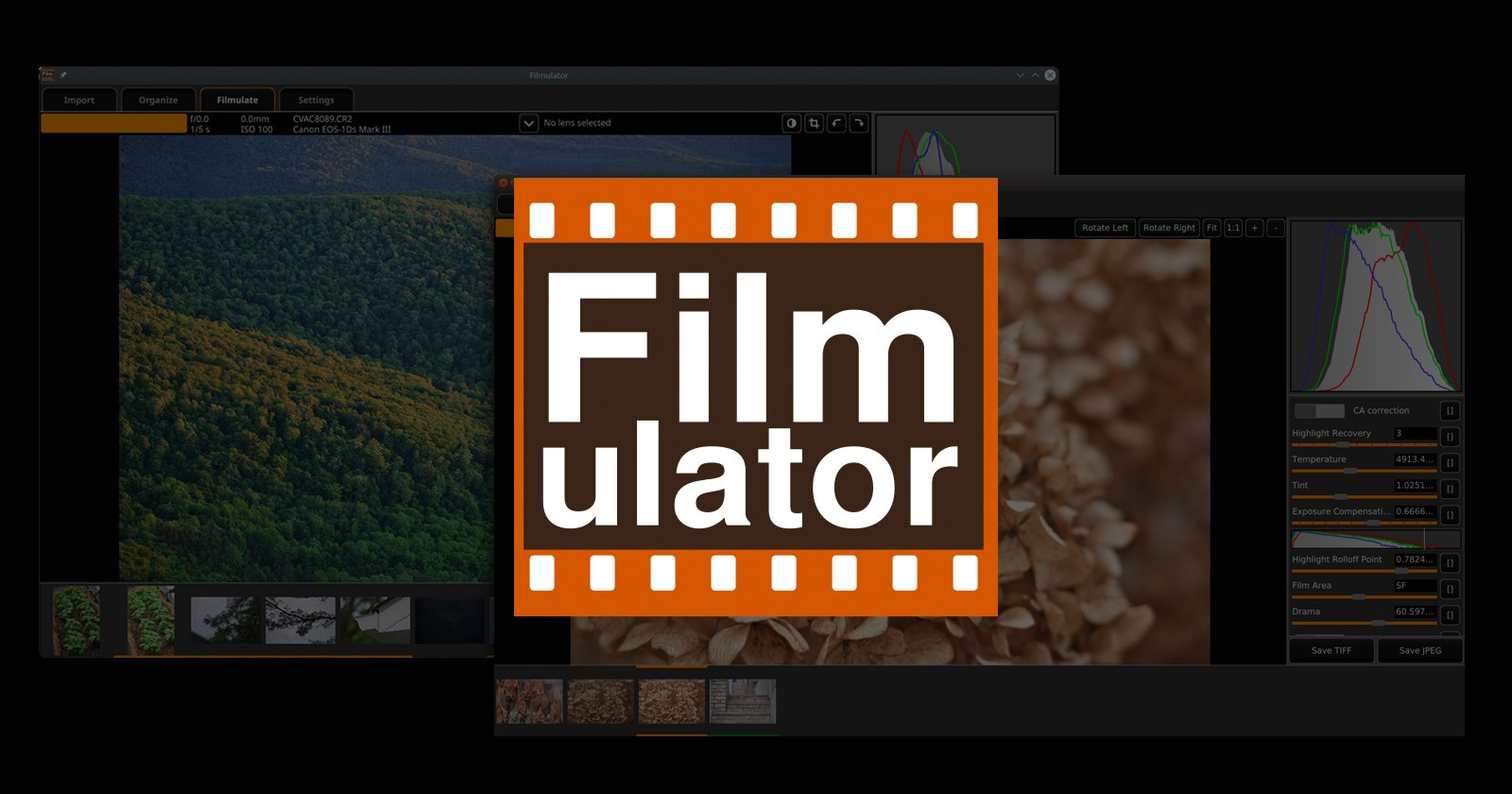 Filmulator is an Open-Source RAW Editor Based on Film Development