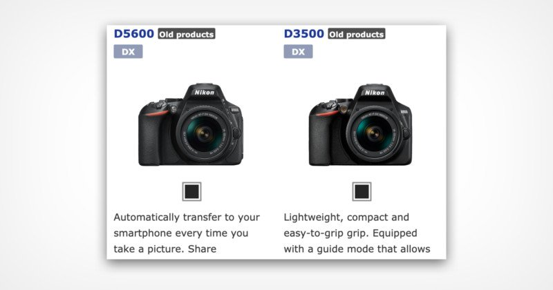 Nikon Has Likely Discontinued the D3500 and D5600 DSLRs