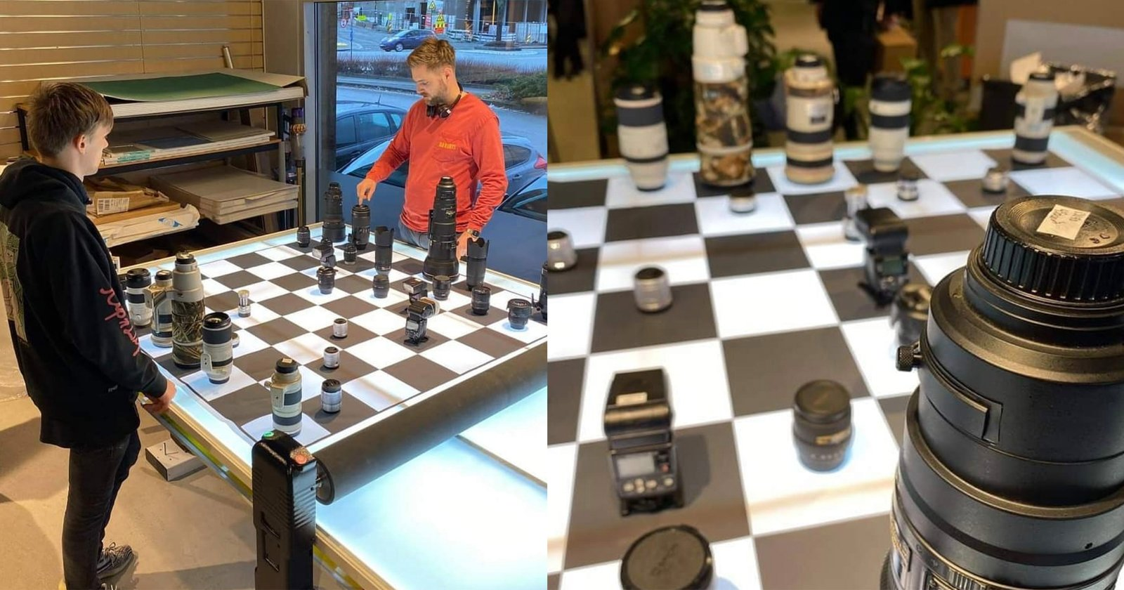 Play Chess with Camera Equipment at This Norwegian Camera Store