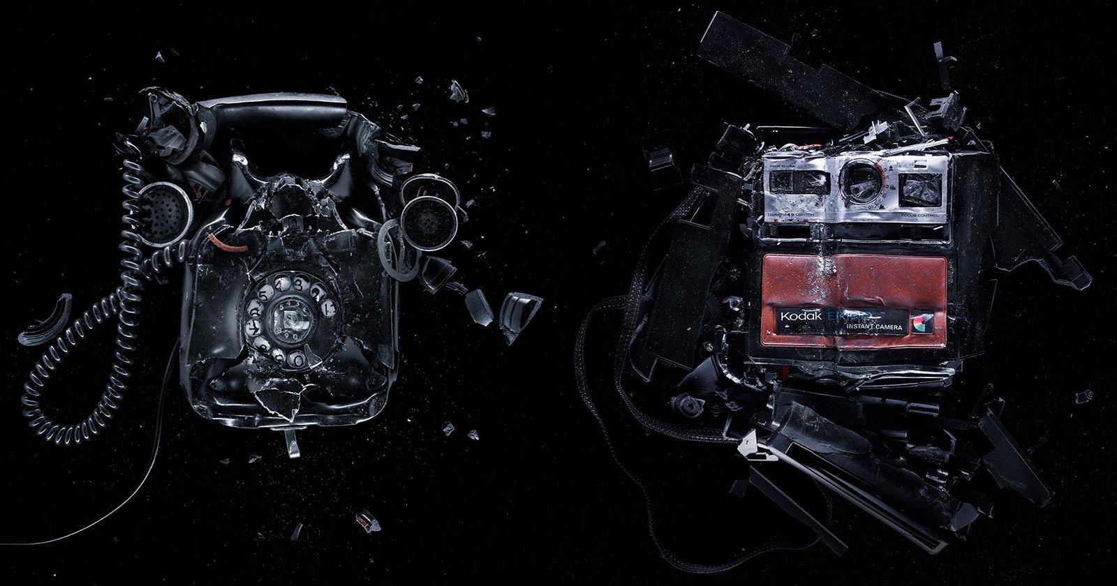 These Studio Portraits of Smashed Electronics are Oddly Satisfying
