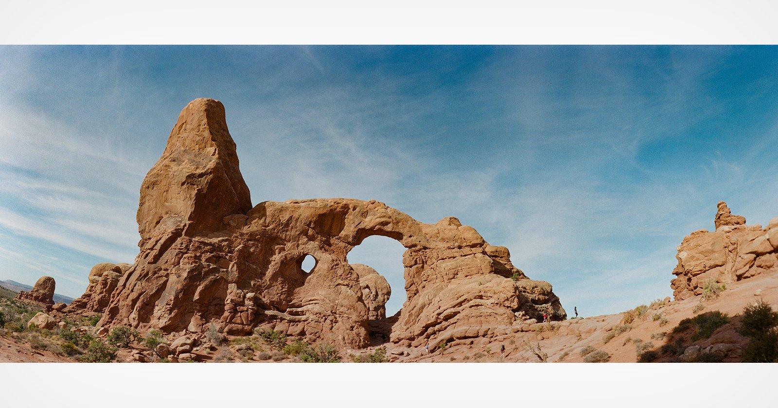 Ripresa di paesaggi con la fotocamera panoramica Horizon 202
