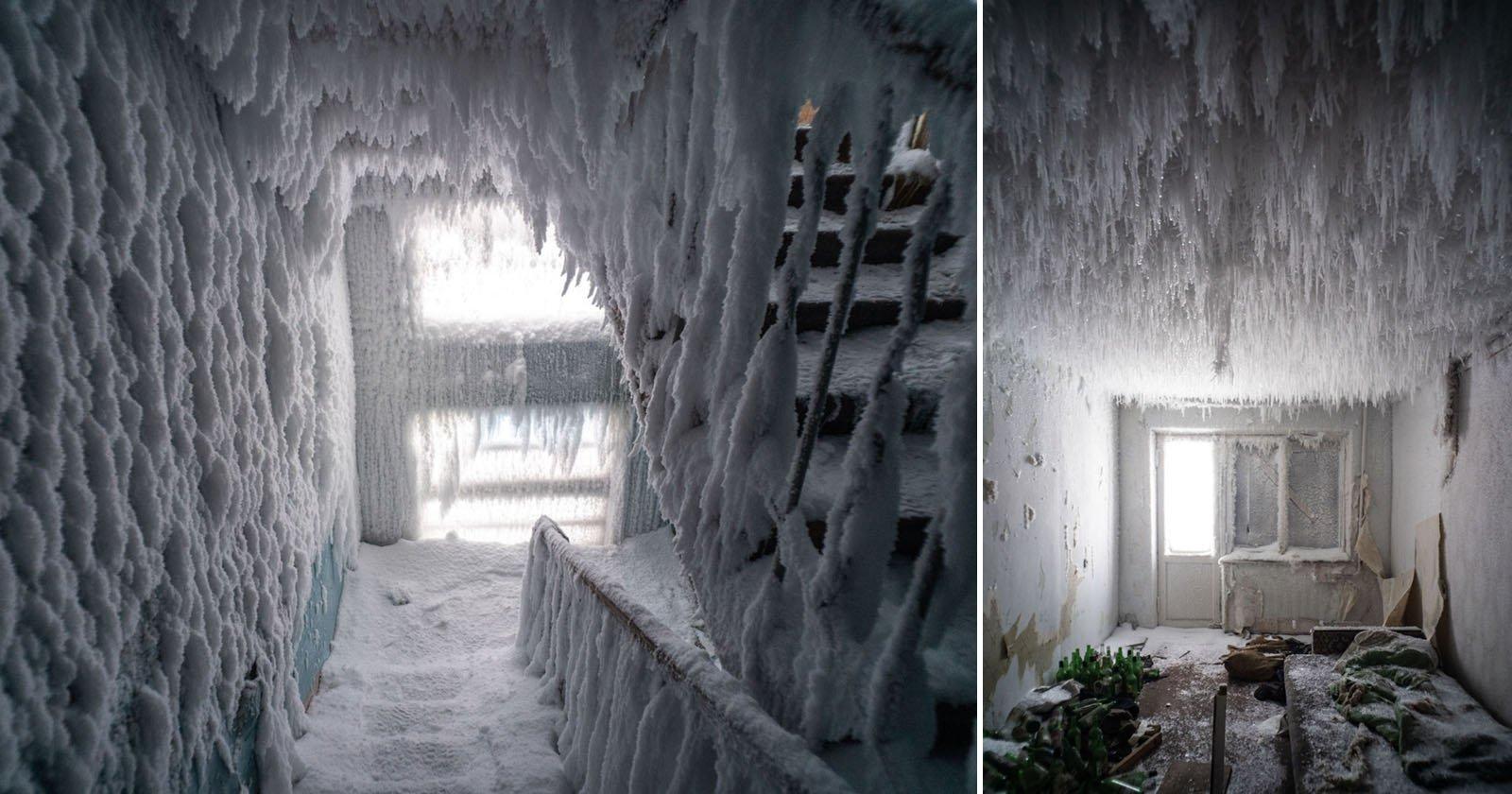 Foto di un appartamento russo congelato nella città più fredda d'Europa