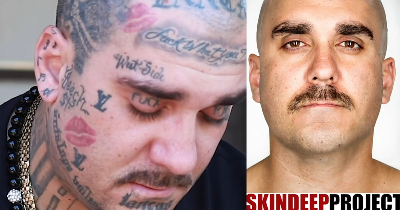 Gang Members React to Photos of Themselves with Tattoos Removed