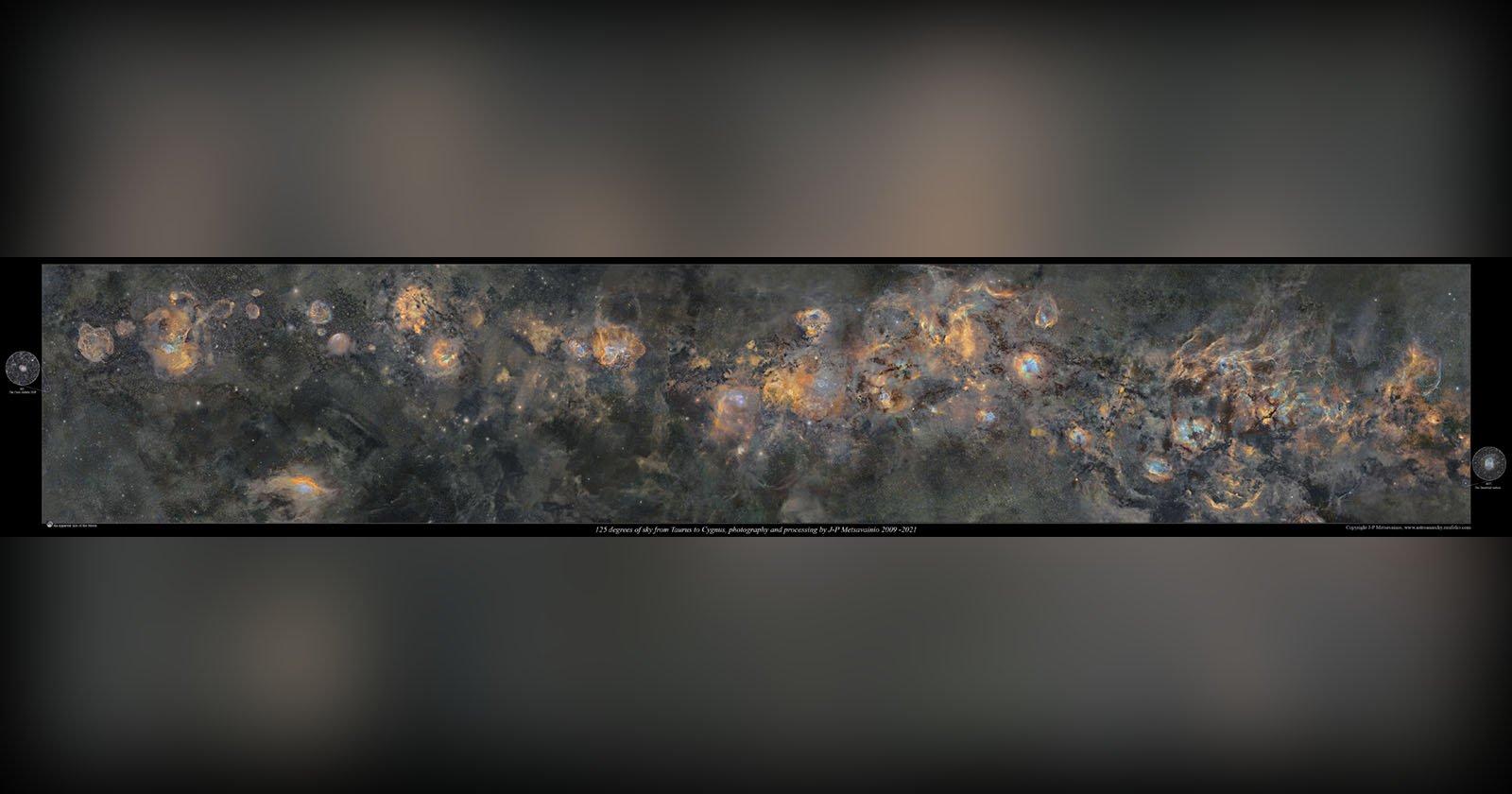 Il fotografo trascorre 12 anni, 1250 ore, esponendo la foto della Via Lattea