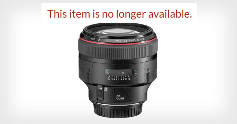 Canon Appears to Be Rapidly Discontinuing Popular DSLR Lenses