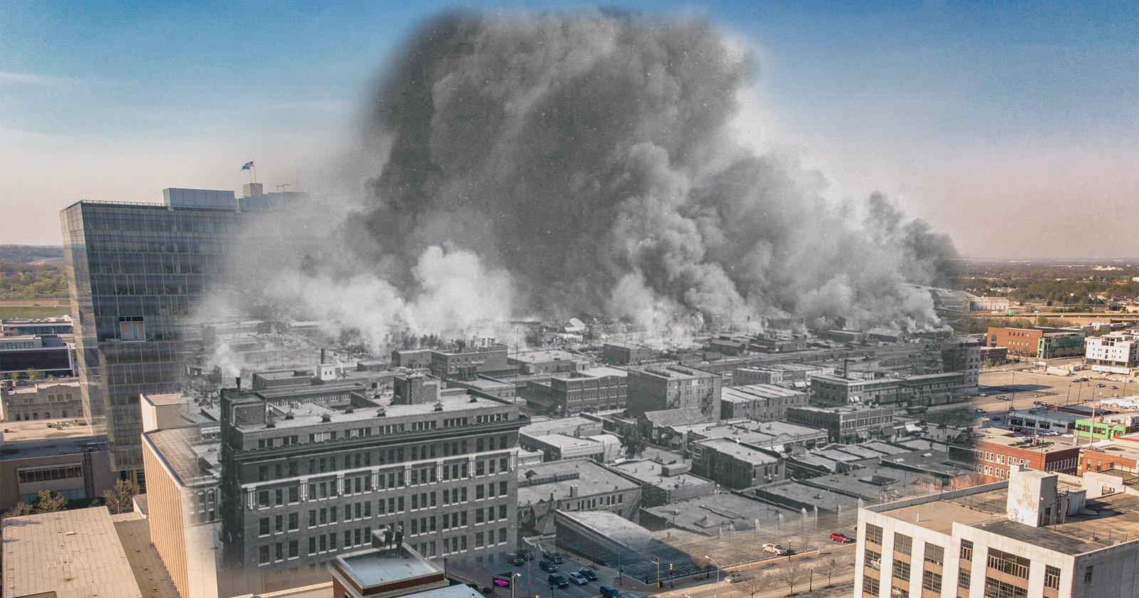 Le foto di 'Time Travel' onorano il 100 ° anniversario del massacro della gara di Tulsa