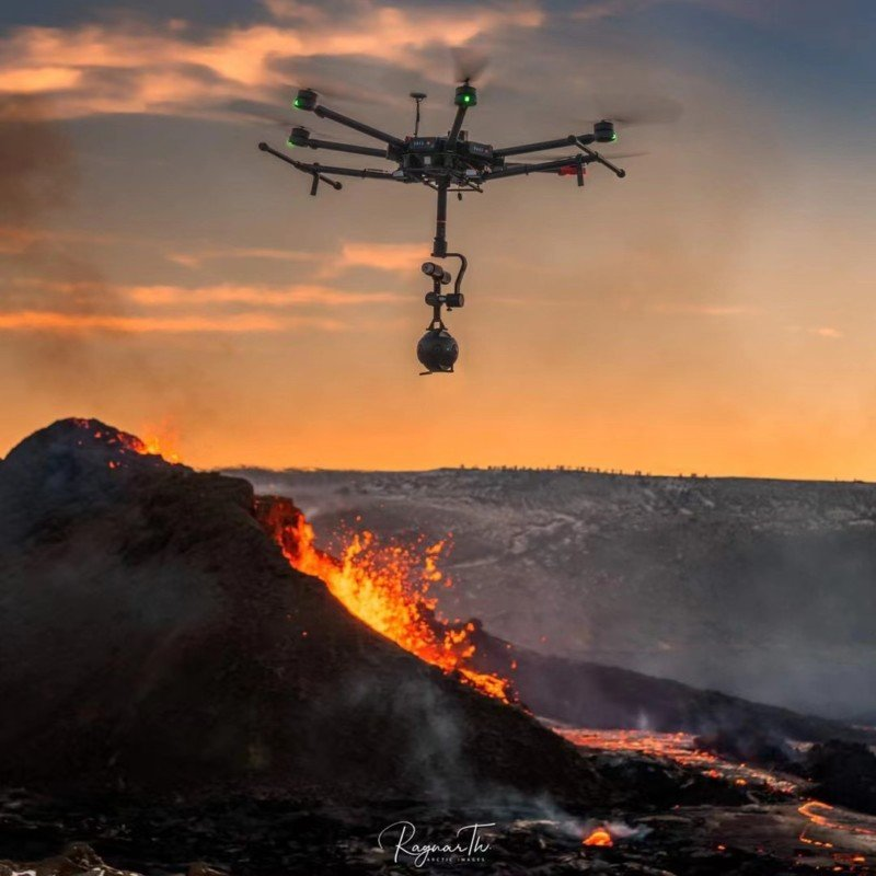 Duo Captures the First 8K VR Drone Video Over Iceland's Volcano