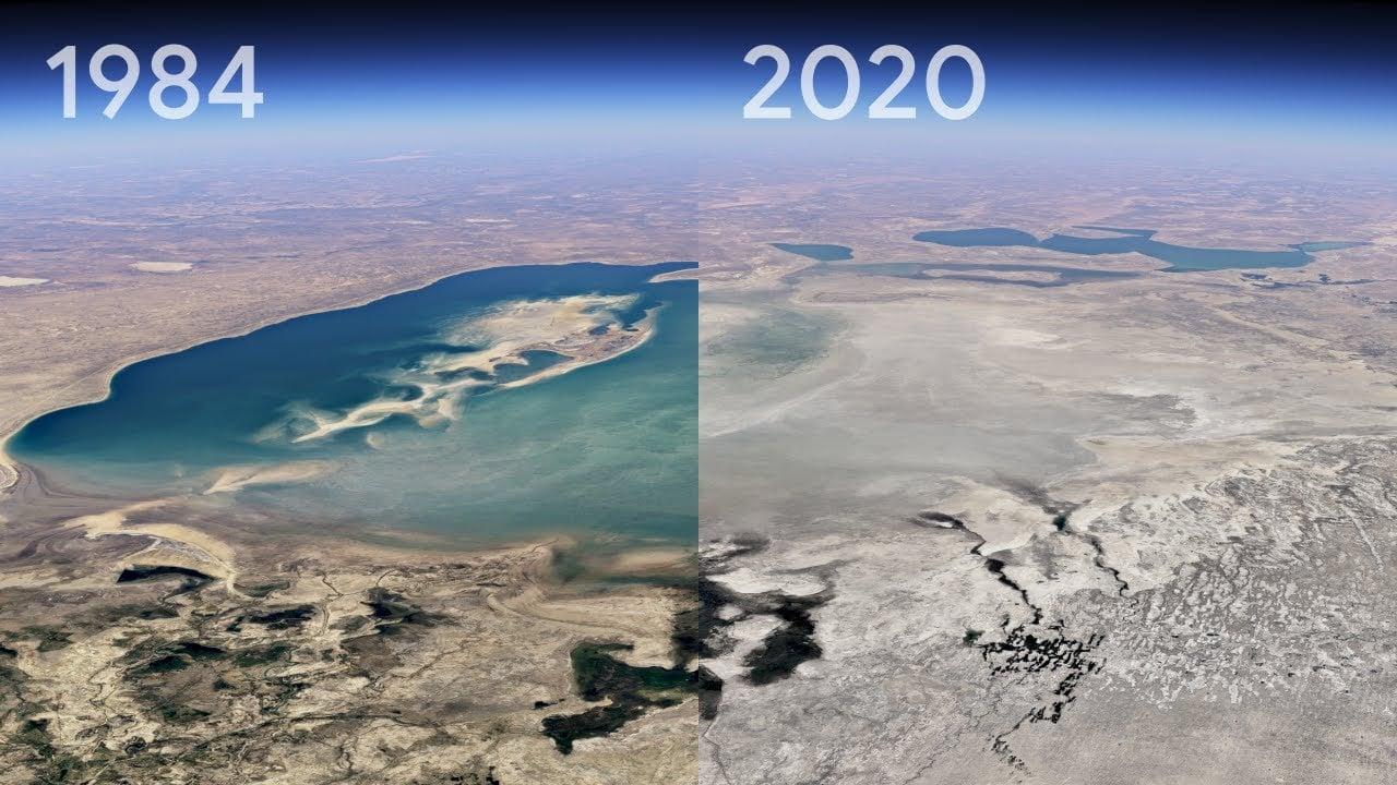 La nuova funzione Timelapse di Google Earth mostra gli effetti del cambiamento climatico