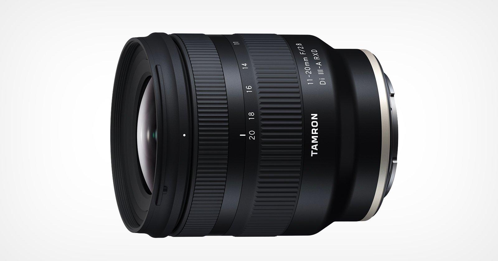 Tamron presenta il primo obiettivo al mondo da 11-20 mm f / 2.8 per Sony APS-C E-Mount
