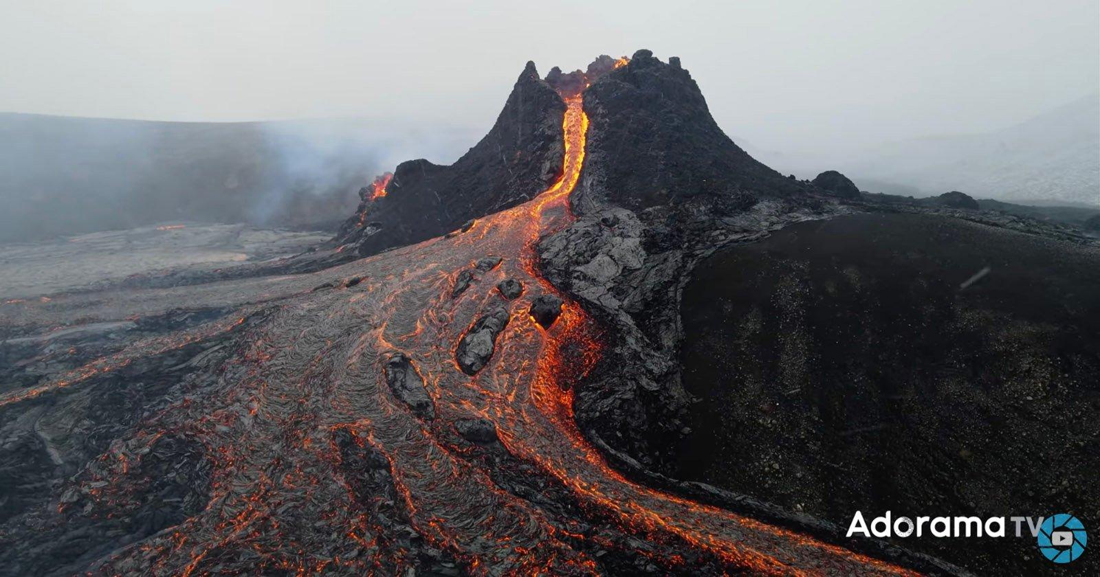 Il cortometraggio dell'eruzione islandese lo vede come un'esperienza umana collettiva