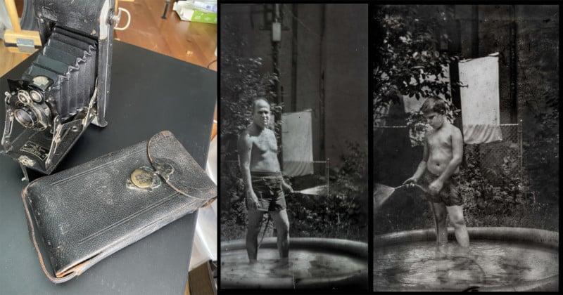 Photographer Discovers Undeveloped Film Inside 1920s Kodak Camera