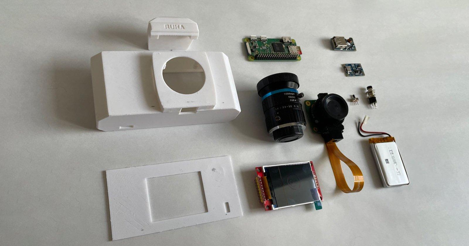 RUHAcam è una fotocamera digitale Raspberry Pi che puoi stampare in 3D