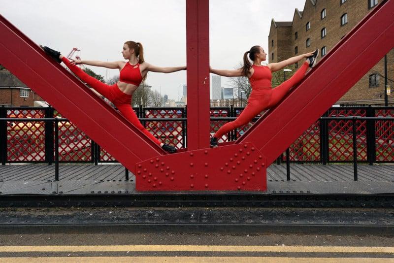 Photos of Dancers Blending Into London Architecture 123